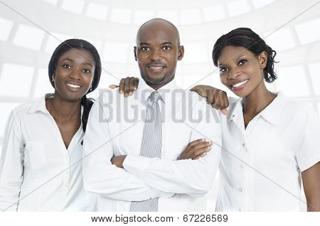 African Business Team / Students Smiling