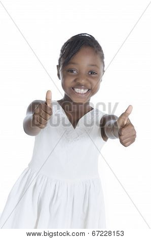 Happy African Girl Thumb Up