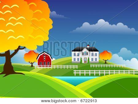 landschaftlich Farm Landschaft