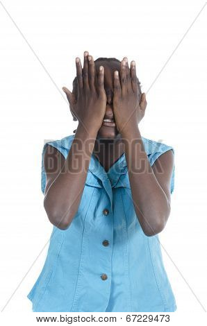 African Girl In Stress