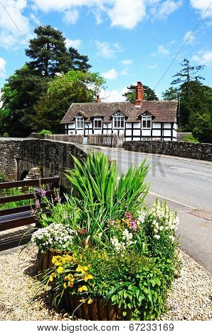 Cottage by stream, Eardisland.