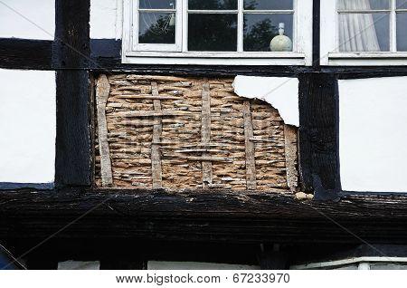 Timber framed building restoration.