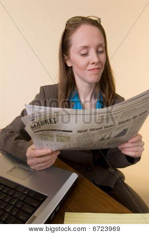 Woman With Newspaper-02