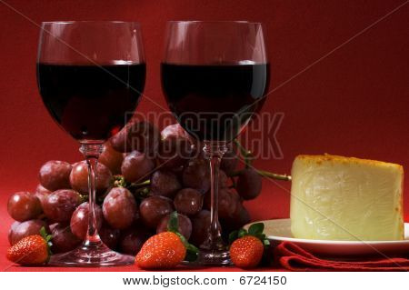 Wine and cheese for two