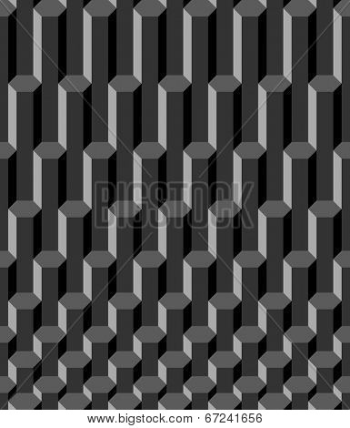 abstract graphite hexagon seamless pattern