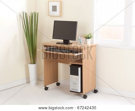 Desktop computer with cpu