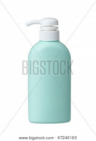 Cosmetic bottle without label