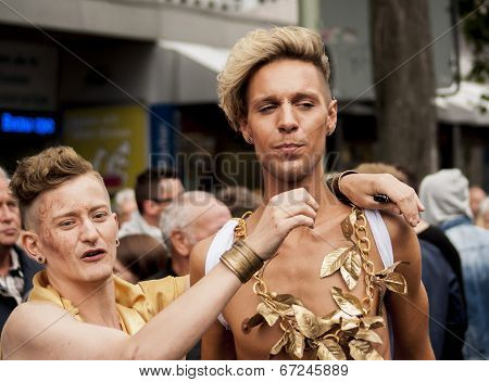 Unidentified Gays During Gay Pride Parade