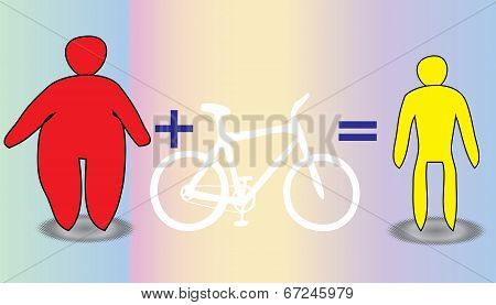 Slimming Men And Women By Bicycle