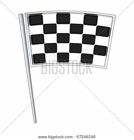 Finish flag, 3d