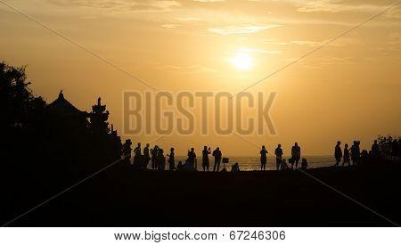 sunset at Pura Batu Bolong - Tanah Lot, Bali , Indonesia