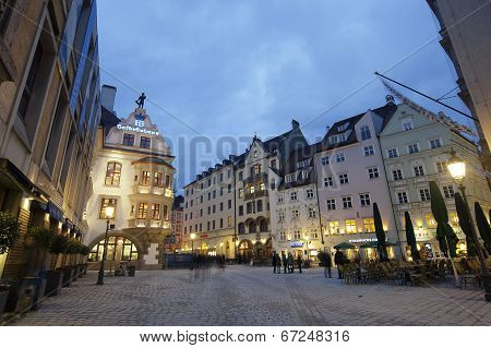 Munich City Center In The Evening