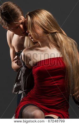 Portrait of a passionate couple