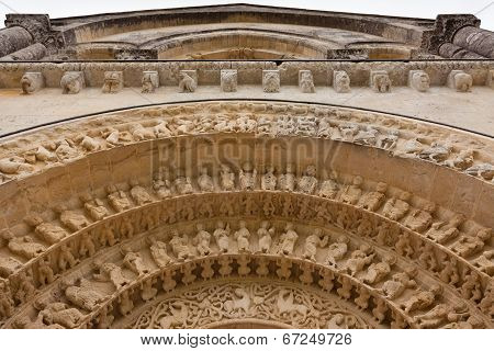 Archivolts Detail Of Aulnay De Saintonge Church