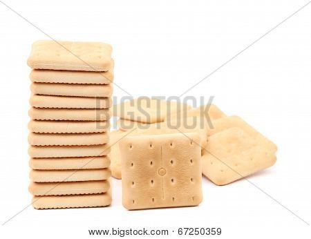 Stack saltine soda cracker