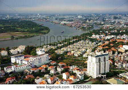 Scene Of Asian City