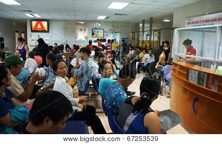 Sick Patients Waiting At Hospital