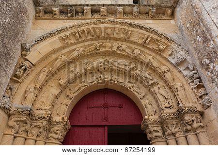 Main Entrance Of Aulnay De Saintonge Church