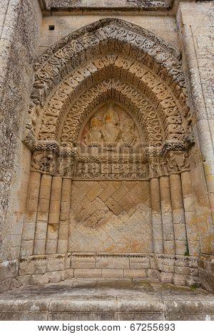 Right Side Facade  Of Aulnay De Saintonge Church