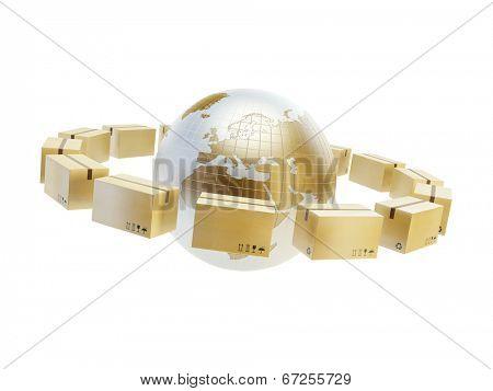 worldwide shipment concept