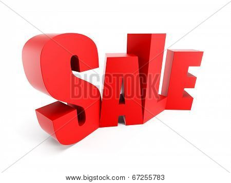 Big sale, isolated 3d rendering