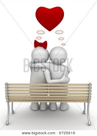 Love thinking embracing couple 2