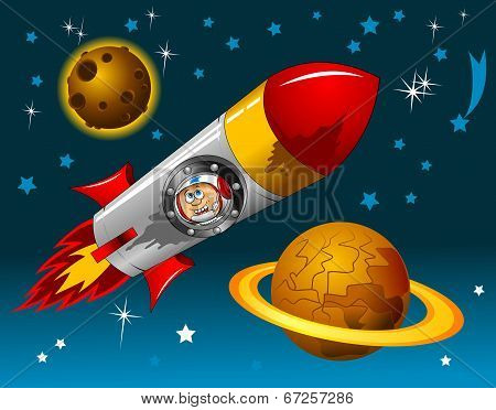 Rocket In Space