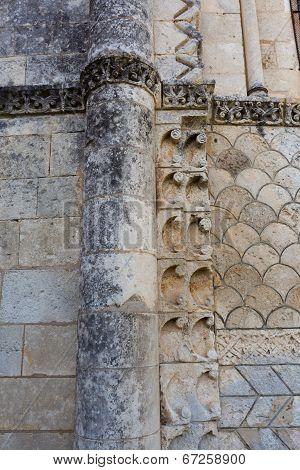 Beautiful Romanesque Column In Rioux