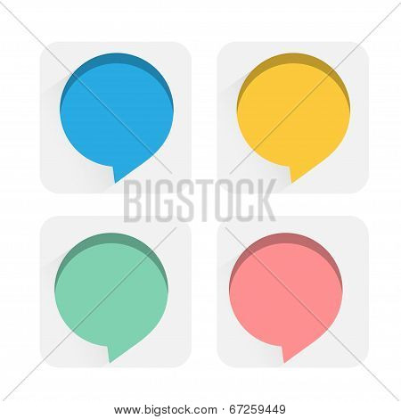 Speech bubbles flat icons