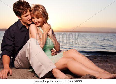 Pareja romántica en el amor