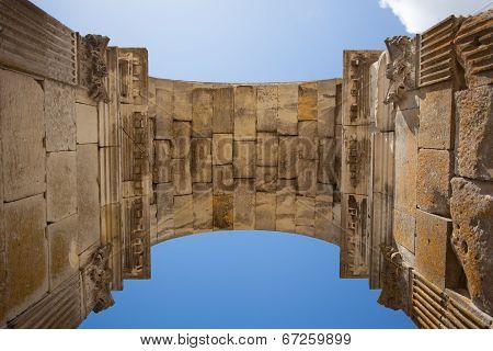 Inside View Of Saintes Germanicus Roman Arch