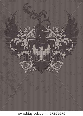 ornamental heraldic shield