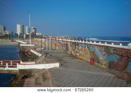 Colourful Seawall