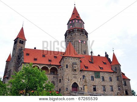Castle Bouzov, Moravia, Czech Republic, Europe