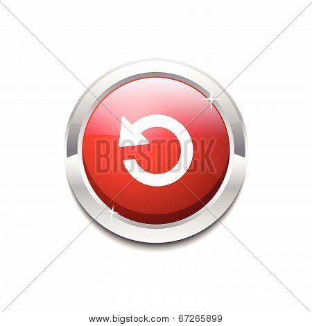 Reset Circular Vector Red Web Icon Button