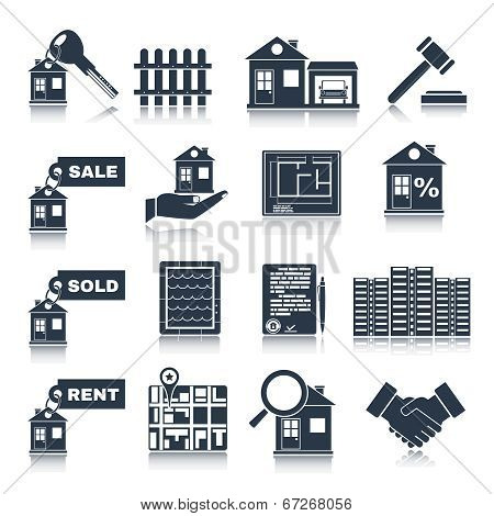 Real Estate Black Icons