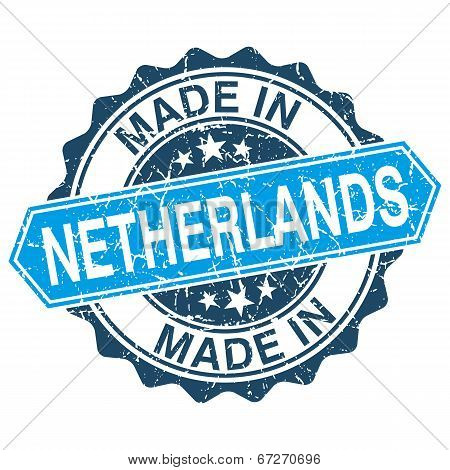 Made In Netherlands Vintage Stamp Isolated On White Background