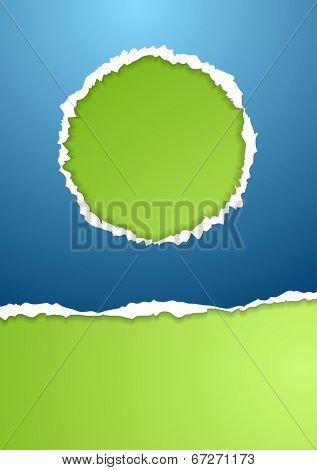Bright ragged paper vector background