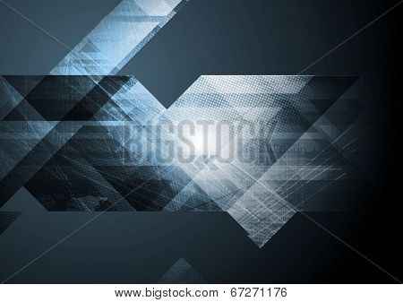 Abstract dark grunge tech background. Vector