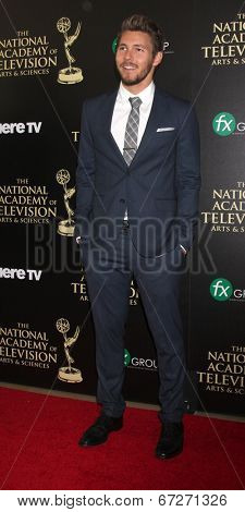 LOS ANGELES - JUN 22:  Scott Clifton at the 2014 Daytime Emmy Awards Arrivals at the Beverly Hilton Hotel on June 22, 2014 in Beverly Hills, CA