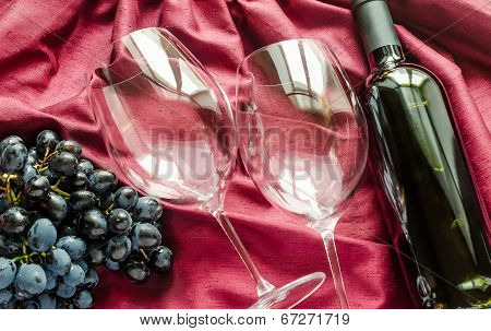 Red Wine And Glasses