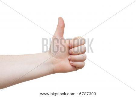 Good Job!!  Females Hand Giving Thumbs Up