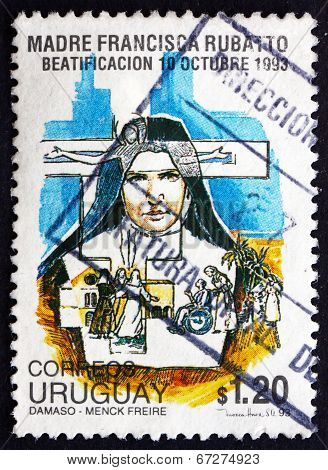 Postage Stamp Uruguay 1993 Mother Francesca Maria Rubatto