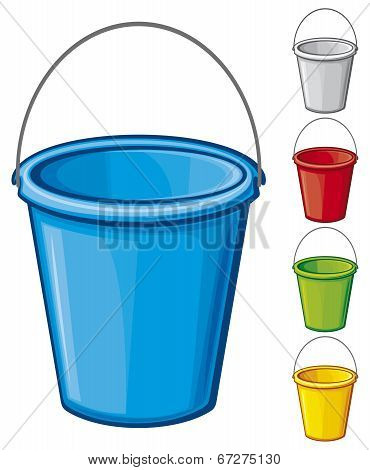 Colored bucket with handle