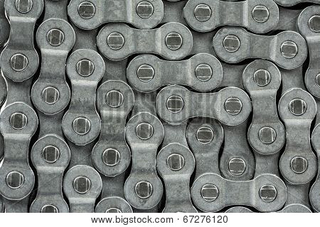 A pattern formed by the bicycle chain