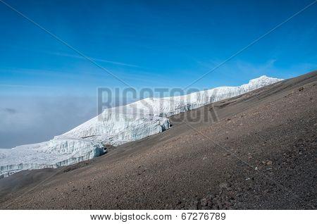 The Rebmann Glacier, Kilimanjaro