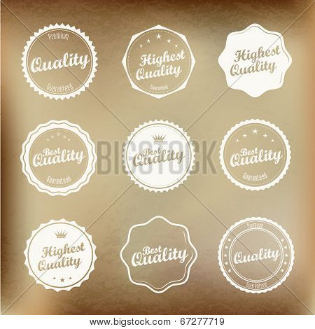 Best Quality badges in vintage style |  editable vector.