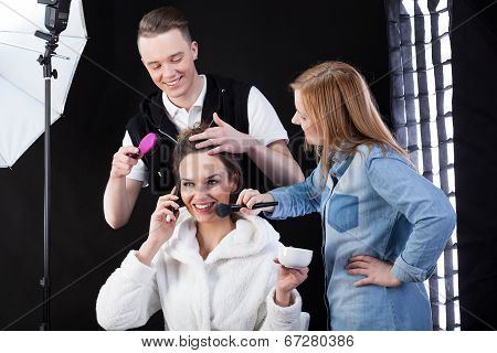 Preparation For Professional Photo Session