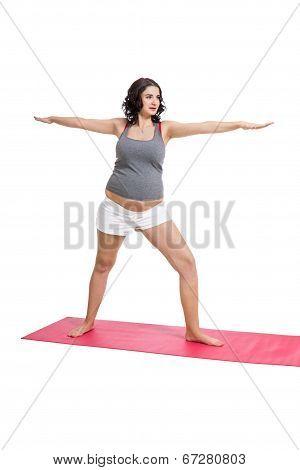 Pregnant Woman Doing Aerobics Exercises
