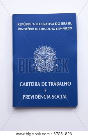 Brazilian Work Document And Social Security Document (carteira De Trabalho)